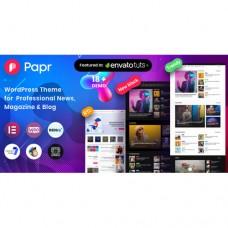 Theme Wordpress Premium News Magazine Papr Hanya 150 Ribu